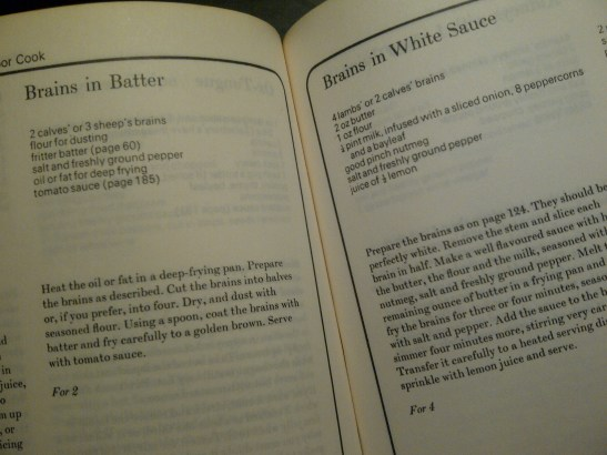 Image of book open at recipes