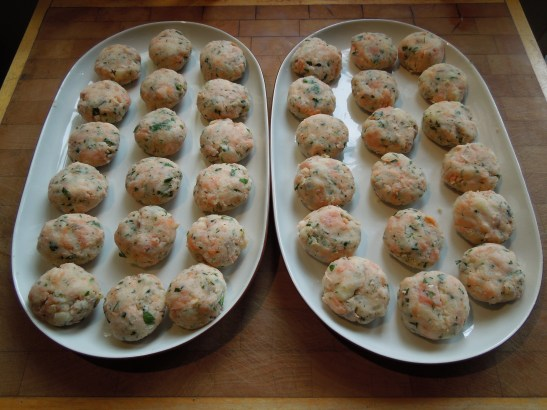Image of fishcake mix formed into patties