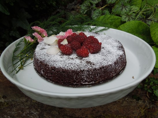 Image of chocolate and almond cake