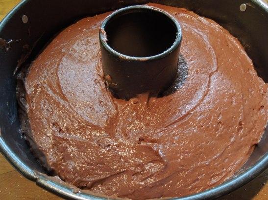 Image of cake mix in tin