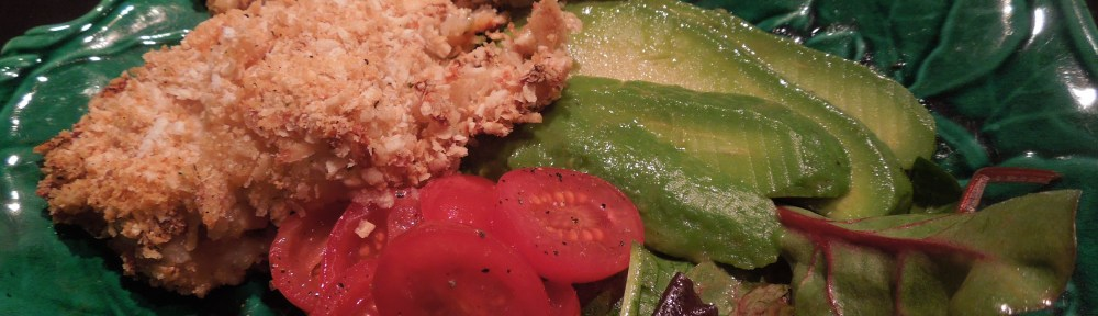 Image of chicken serve with salad