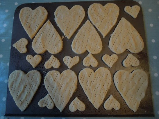 Image of shortbreads ready for the oven