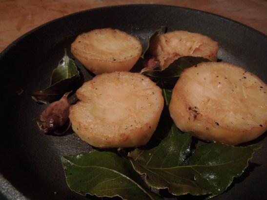 Image of finished celeriac fondants