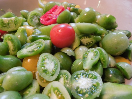 Image of green tomatoes