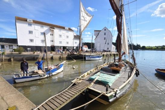 Image of fishing boats at Woodbridge Tide Mill