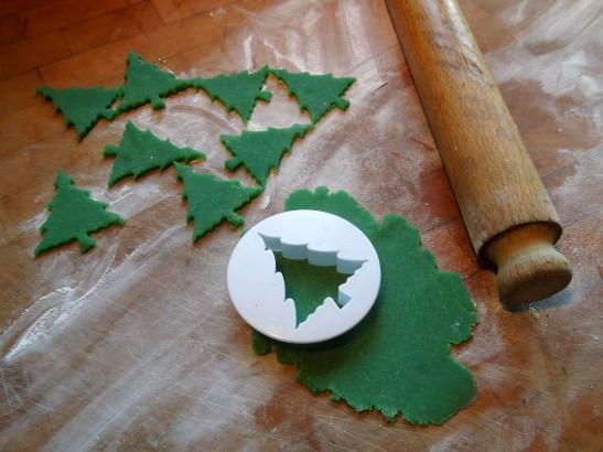 Image of marzipan Christmas trees
