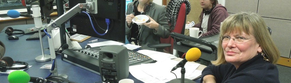 Image of Mrs P in the studio with Lesley Dolphin