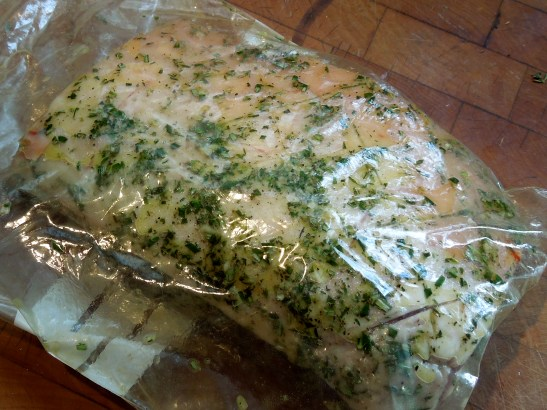 Image of lamb marinating in bag