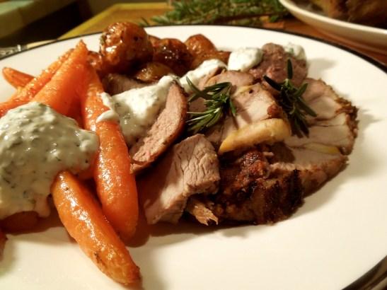 Image of Greek Roast Lamb, plated