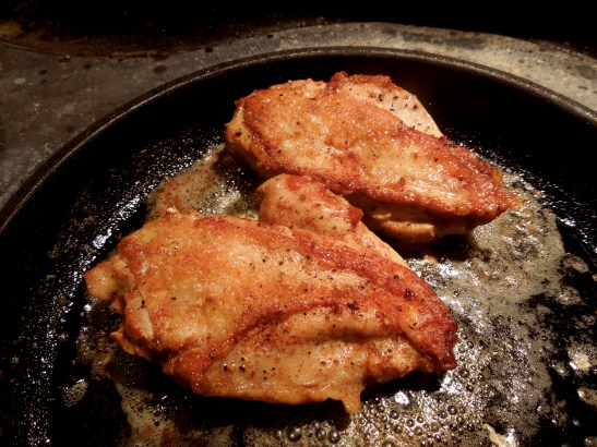 Image of chicken frying