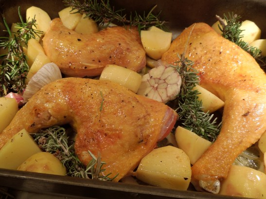 Image of the ingredients ready for the oven