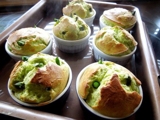 Image of souffles after first bake