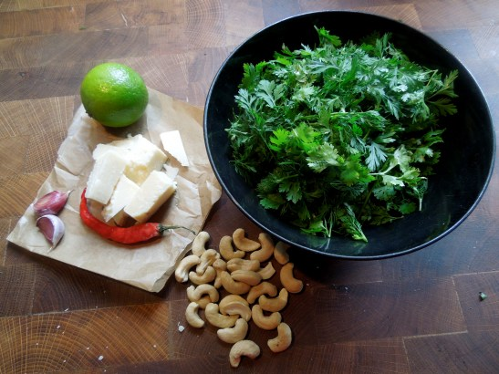 Image of pesto ingredients