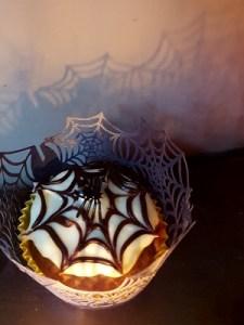 Image of cobweb cupcake