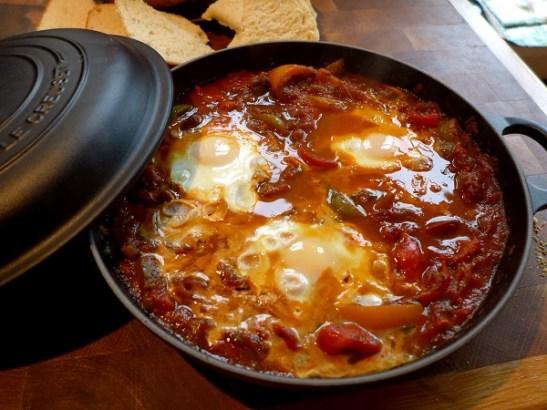 Image of shakshuka, cooked