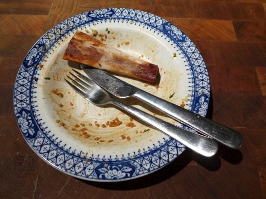 Image of bone on empty plate