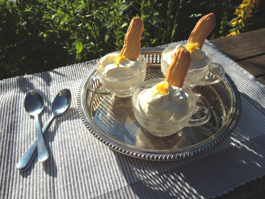 Image of Lemon Syllabub and Lemon Finger Biscuits