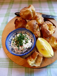 Image of mini Yorkshires with smoked trout