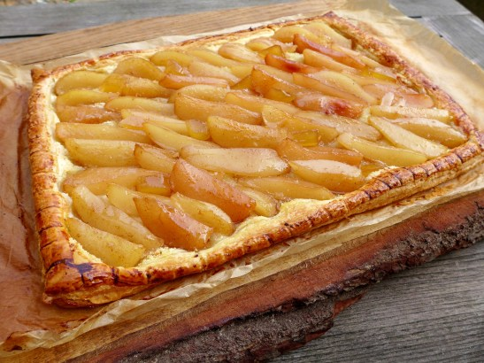 Image of spiced pear, ginger and maple tart