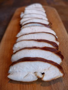 Image of sliced hot-smoked chicken breast