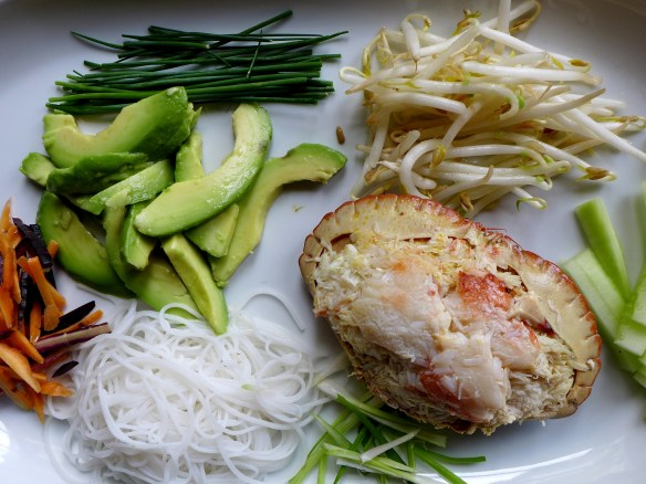 Image of summer roll ingredients