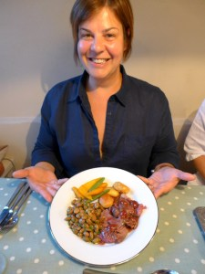 Image of Jackie with a plate of food