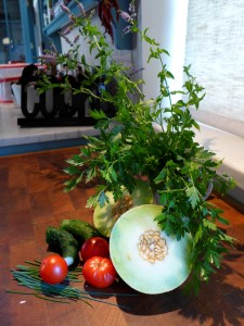 Image of ingredients for melon salad
