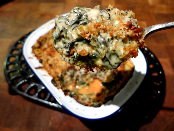 Image of chard gratin being served