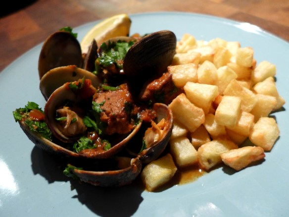 Image of Portuguese Pork and Clams, served