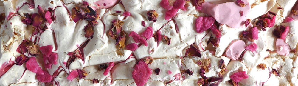 Image of Raspberry and Rose Meringue Torte