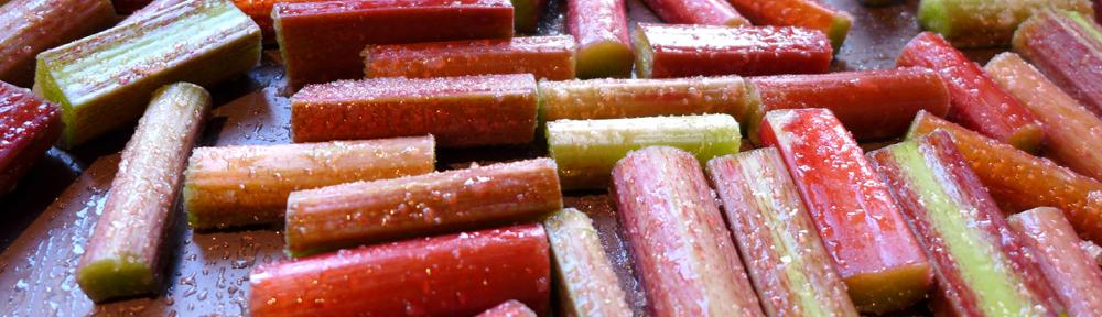 Image of chopped rhubarb
