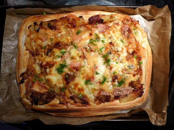 Image of fennel, cheese and onion tart