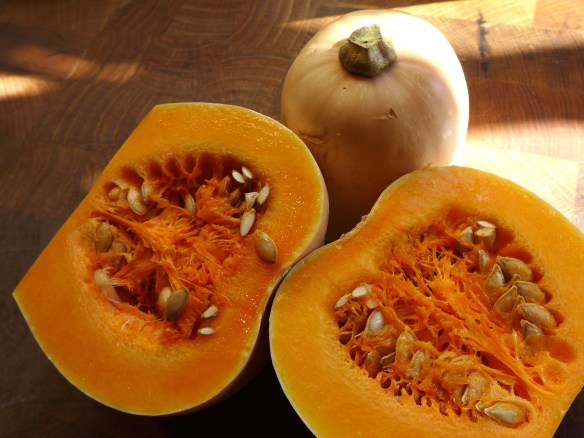 Image of a butternut squash, halved