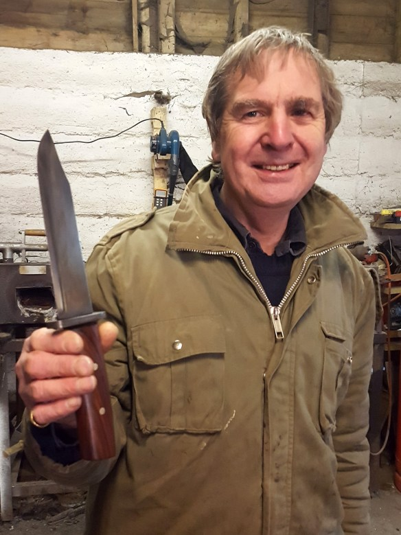 Image of Robert with his knife