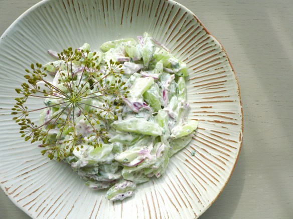 Image of cucumber and dill salad