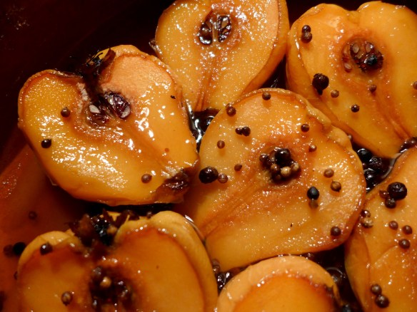 Image of baked quince with mead