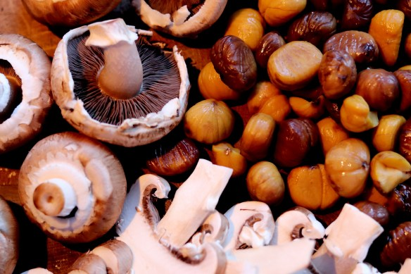 Image of mushrooms and chestnuts