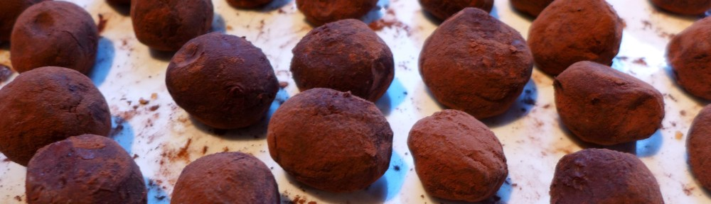 Image of damson gin truffles