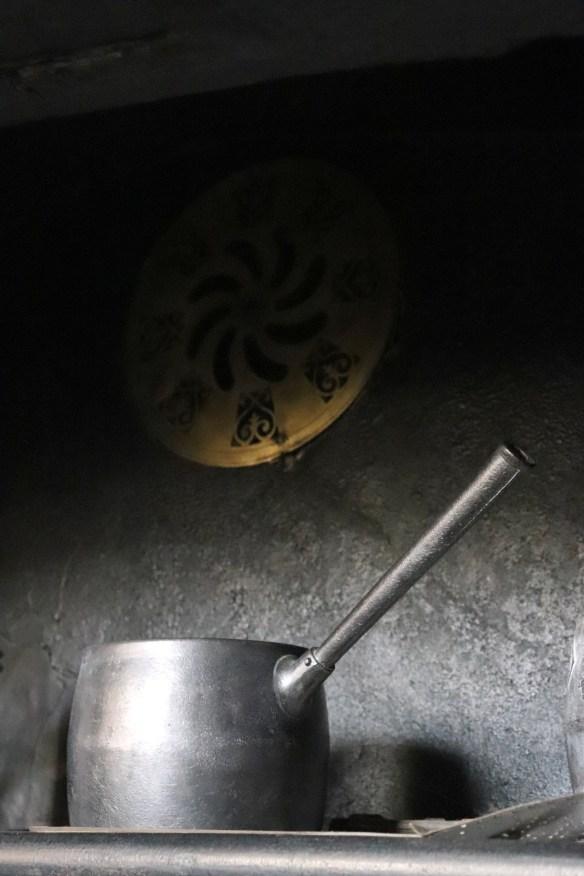 Image of saucepan above the range