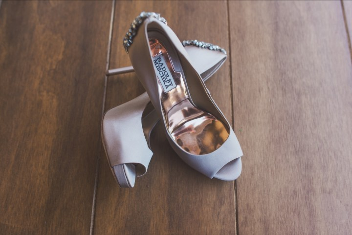 My Badgley Mischka Wedding Shoes
