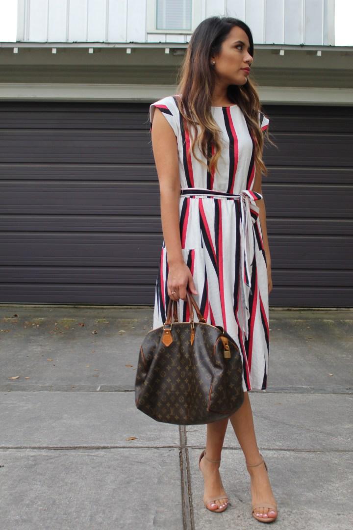 Who What Wear Striped Dress