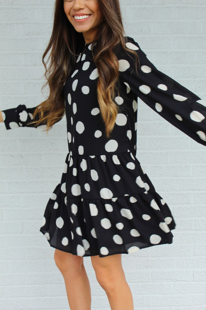 A Cute Polka Dot Tiered Dress