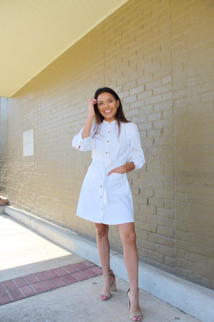 White Jean Dress