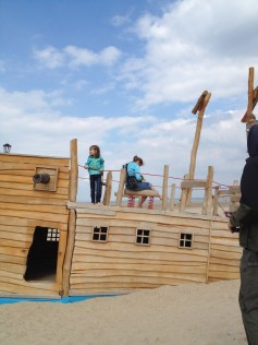 Pirate ship playground at Breezand.