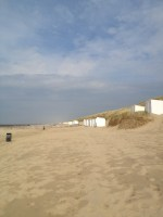 View toward Ostkapelle from the beach cabin.
