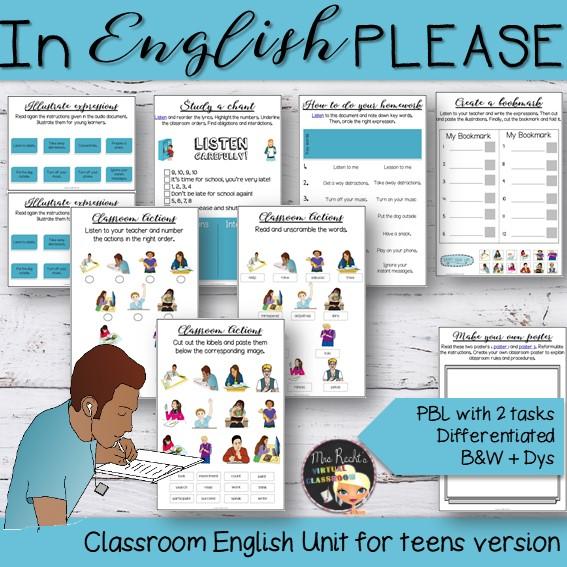 Séquence Classroom English Segpa