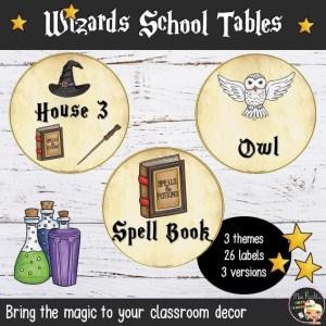 Décoration Harry Potter Tables GB