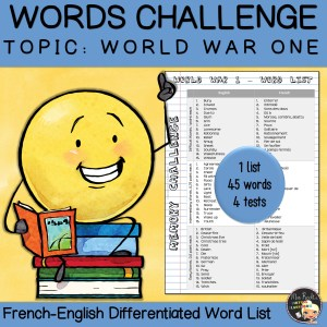 Vocabulary Word List World War One