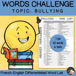 Vocabulary Word List Bullying