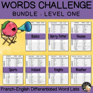 Vocabulary Word Lists Bundle Level 1
